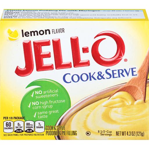 Jell-O® Lemon Cook & Serve Pudding & Pie Filling Mix 4.3 oz. Box