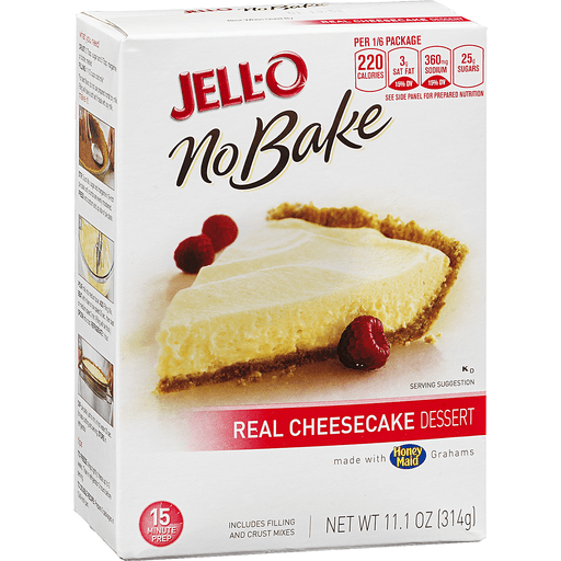 Jell-O No Bake Real Cheesecake Dessert
