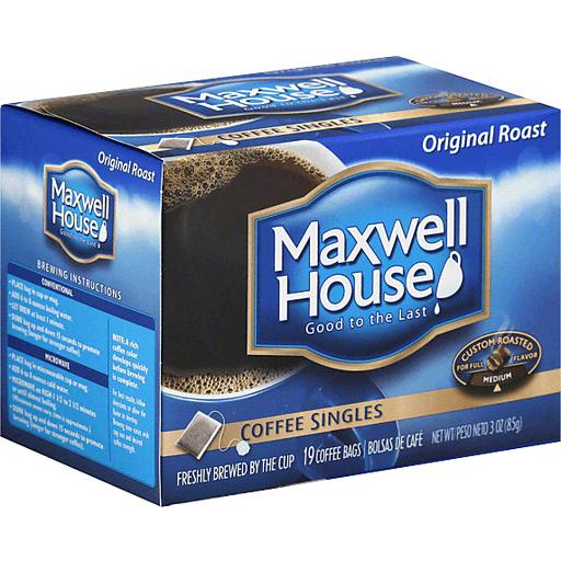 Maxwell House Coffee Singles Original Medium Roast