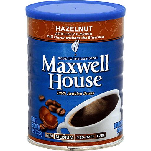 Maxwell House Coffee Ground Hazelnut Medium