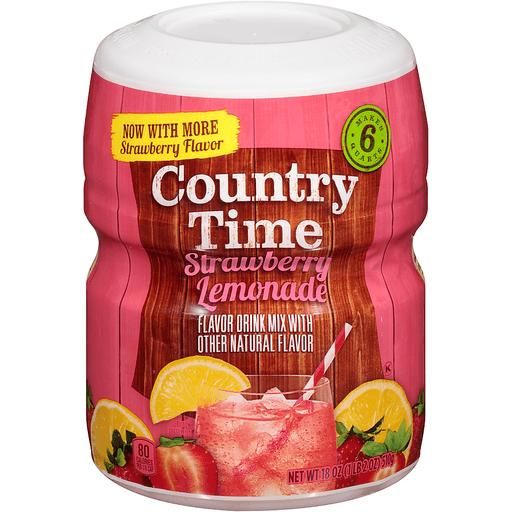 Country Time Strawberry Lemonade Drink Mix 18 oz. Jar