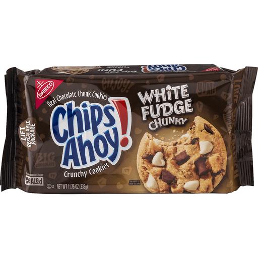 Chips Ahoy Chunky Cookies, Real Chocolate Chunk, White Fudge