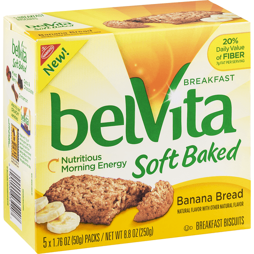 BelVita Soft Baked Breakfast Biscuits, Banana Bread