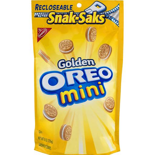 Oreo Cookies, Sandwich, Golden, Mini, Snak-Saks