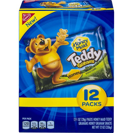 Teddy Grahams Graham Snacks, Honey, 12 Packs