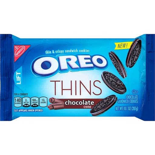 Oreo Thins Cookies, Sandwich, Chocolate Creme