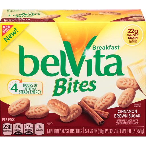BelVita Breakfast Biscuits, Mini, Cinnamon Brown Sugar, Bites