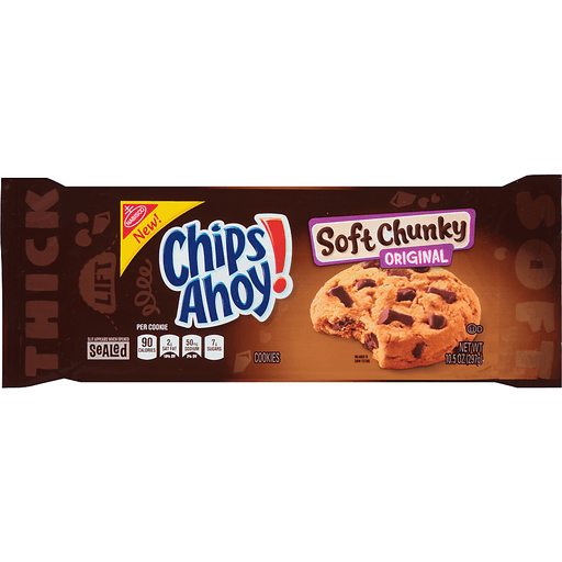 Chips Ahoy Cookies, Soft Chunky, Original