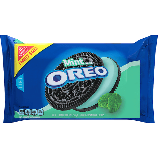 Oreo Cookies, Sandwich, Chocolate, Mint Creme, Family Size