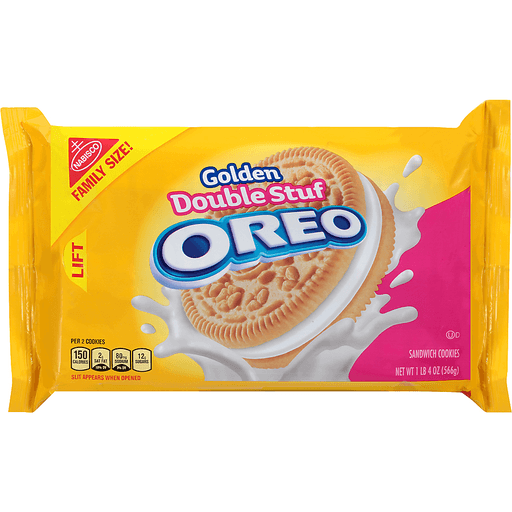 Oreo Cookies, Sandwich, Golden Double Stuf, Family Size!