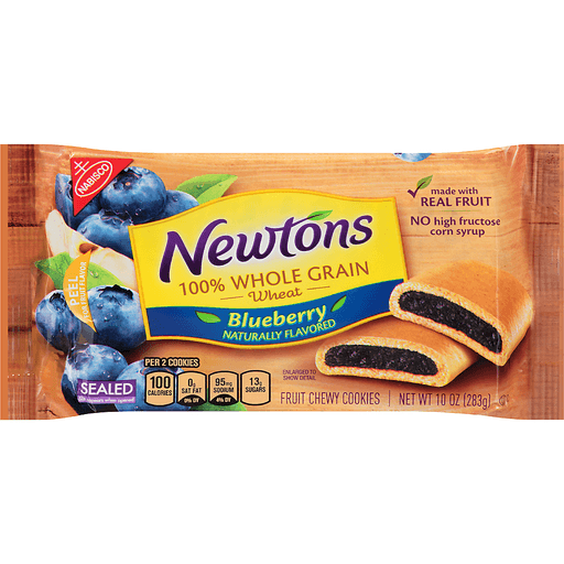 Newtons Cookies, Fruit Chewy, Blueberry