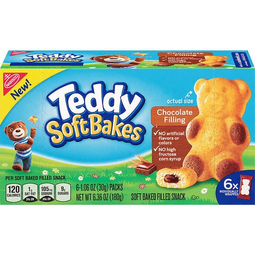 Nabisco Soft Bakes, Teddy, Chocolate Filling