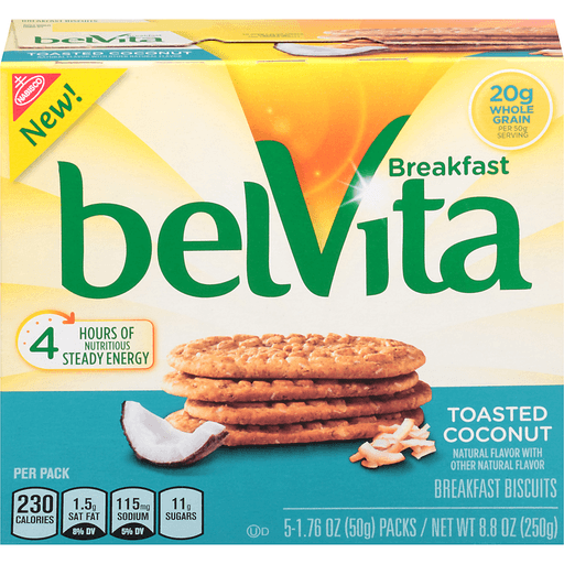 BelVita Breakfast Biscuits, Toasted Coconut