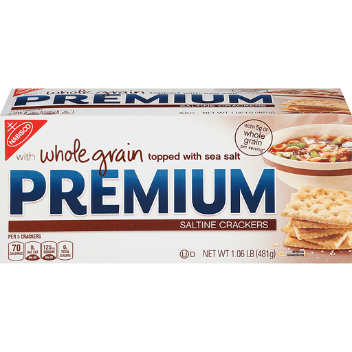 Premium Crackers, Saltine, with Whole Grain