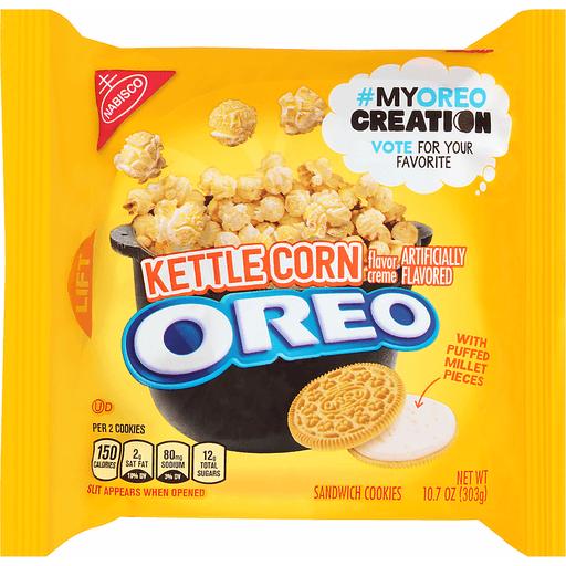 Oreo Sandwich Cookies, Kettle Corn Flavor Creme
