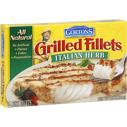 gorton's grilled fillets italian herb  2 ct  casey's foods