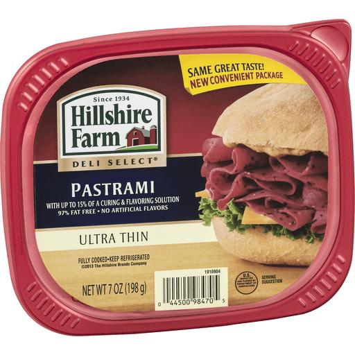 Hillshire Farm Deli Select Pastrami, Ultra Thin