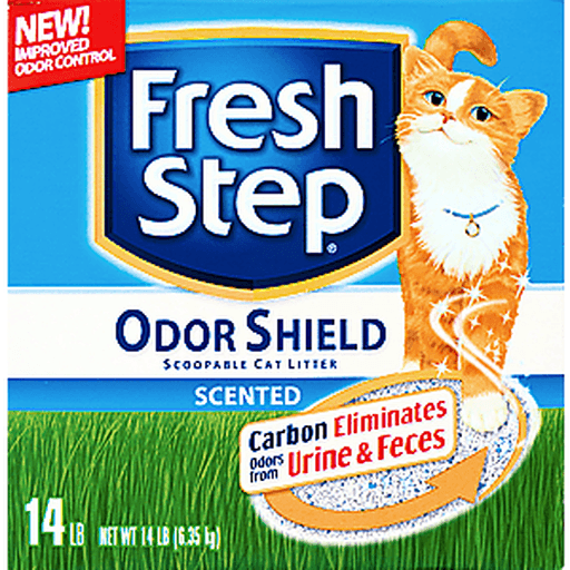 Fresh Step Odor Shield with Febreze Freshness, Clumping Cat Litter, Scented, 14 Pounds