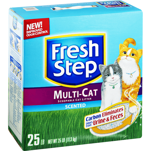 Fresh Step Cat Litter, Clumping, Multi-Cat, Fresh Clean Scent, with Febreze Freshness