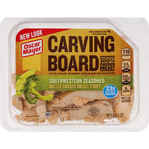 Oscar Mayer Carving Board Grilled Chicken Breast Strips Southwestern Seasoned