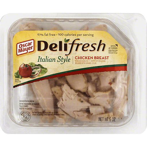 Oscar Mayer Deli Fresh Italian Style 97 Fat Free Chicken Breast 6 Oz Tray Louisiana Specialties Big John Grocery