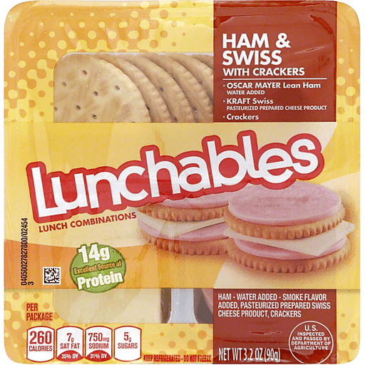 Lunchables Lunch Combinations, Ham & Swiss with Crackers