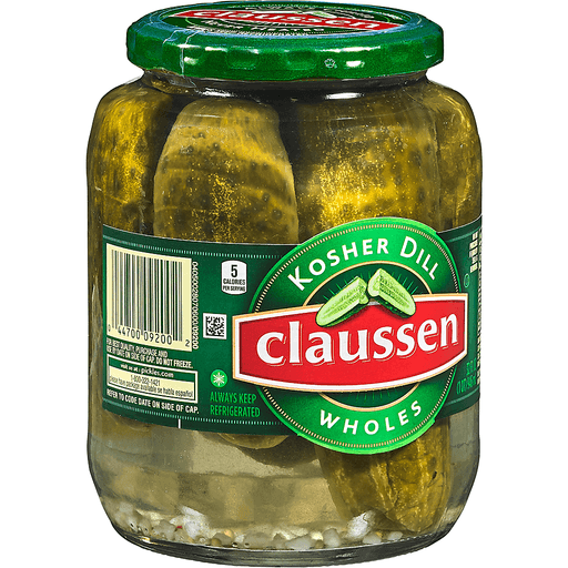 Claussen Pickles, Kosher Dill, Wholes