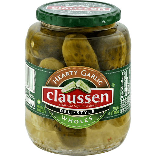 Claussen Deli-Style Pickles, Hearty Garlic, Wholes