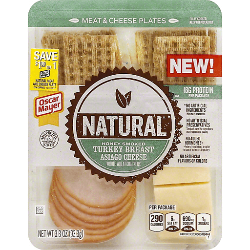 Oscar Mayer Natural Honey Smoked Turkey Breast, Asiago Cheese and Whole Wheat Crackers
