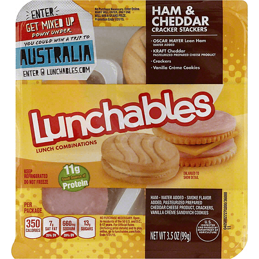 Lunchables Lunch Combinations Ham & Cheddar