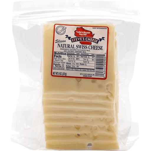 Steves Swiss Sliced Cheese
