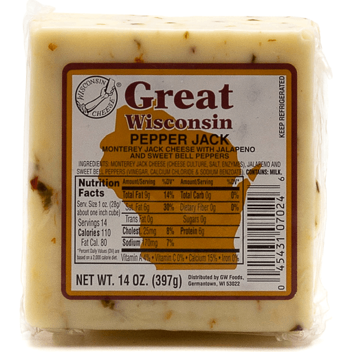 Great Wisconsin Pepper Jack Cheese