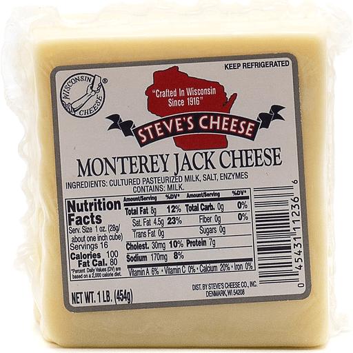 Steve's Monterey Jack Cheese