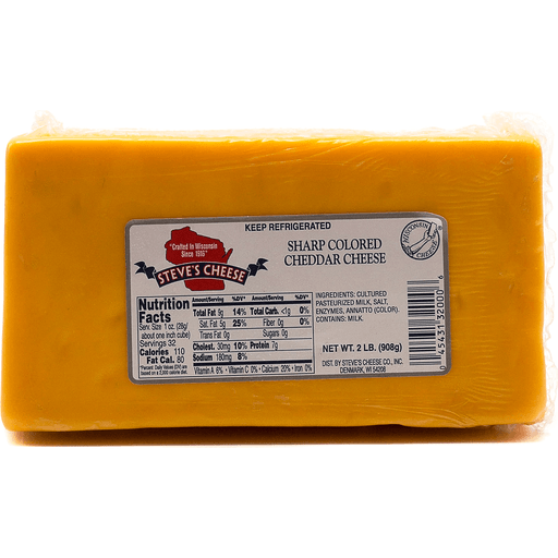 Steve's Aged Colored Cheese