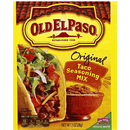 Old El Paso Seasoning Mix Taco Original Hispanic Market Basket