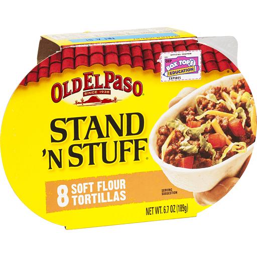 Old El Paso Stand 'n Stuff Tortillas, Flour, Soft, Taco Boats