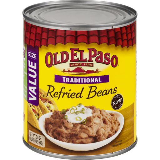 Old El Paso™ Traditional Refried Beans 31 oz. Can