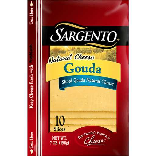 Sargento Natural Cheese Gouda Slices - 10 CT
