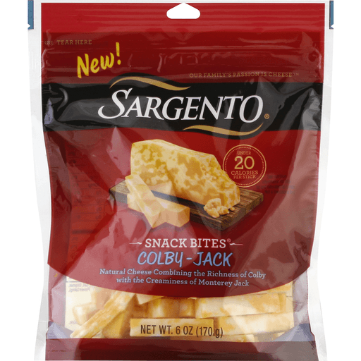 Sargento Snack Bites Cheese, Colby-Jack