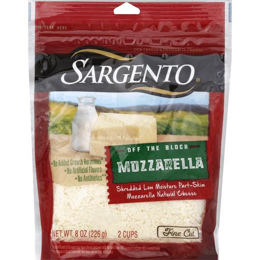 Sargento Cheese, Mozzarella, Part-Skim