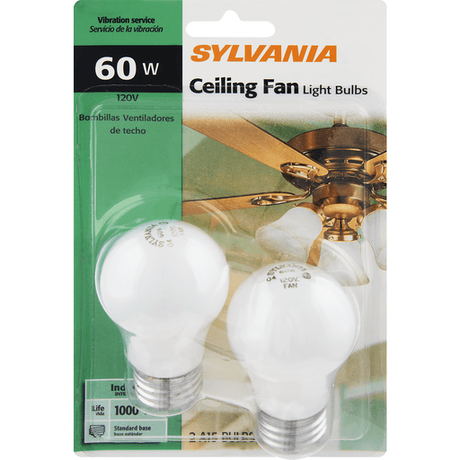 Sylvania 60 Watt Ceiling Fan Light Bulbs Home Chief Markets