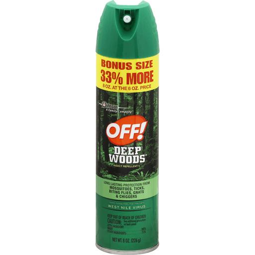 Off Insect Repellent V, Deep Woods, Bonus Size