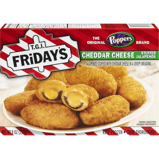 TGI Fridays Poppers Stuffed Jalapenos, Cheddar Cheese, Snack Size