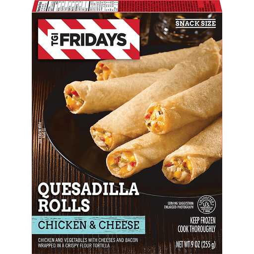 TGI Fridays Quesadilla Rolls, Chicken & Cheese, Snack Size