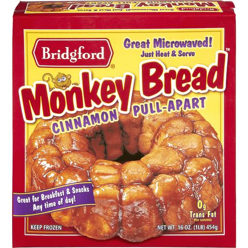 Bridgford Monkey Bread, Cinnamon, Pull-Apart