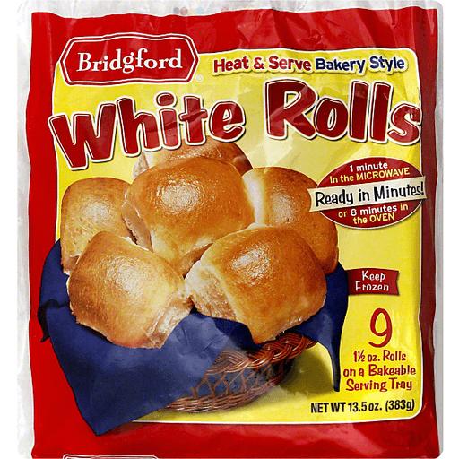 Bridgford Bakery Style White Rolls 9 Ct Buns Rolls Sun Fresh