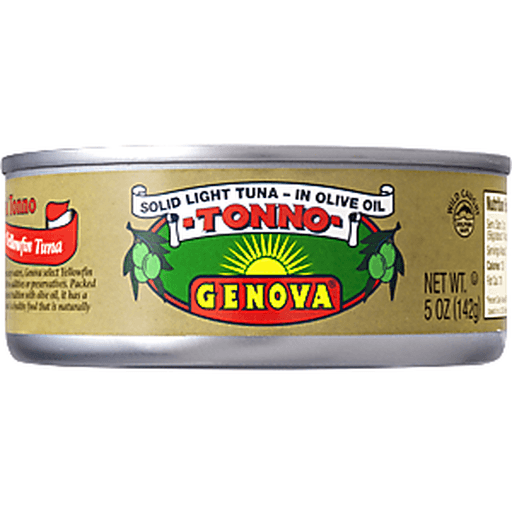 Genova Tuna, Tonno, Solid Light, Premium Yellowfin, in Olive Oil