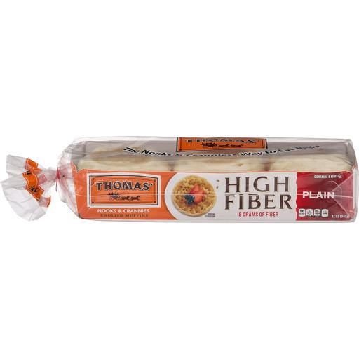 Thomas English Muffins, High Fiber, Plain