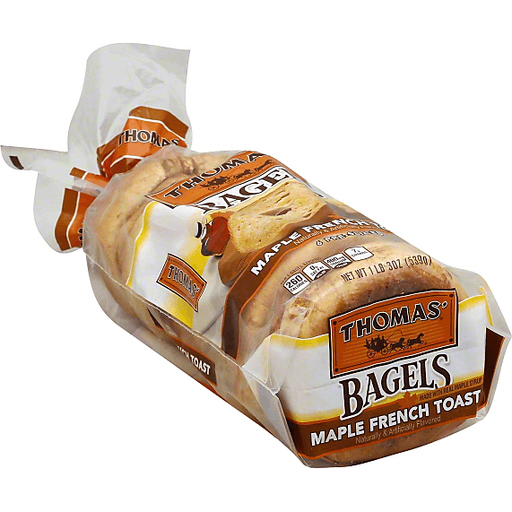 Thomas Bagels, Maple French Toast, Pre-Sliced