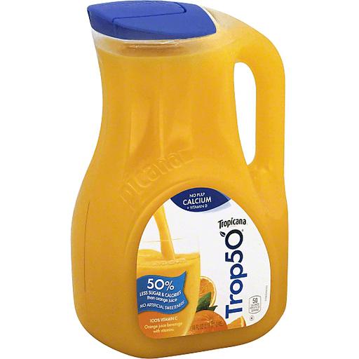 Tropicana Trop50 Orange Juice, with
